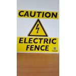 Caution Electric Fence Sign | Buy Farm Signs Online Ireland